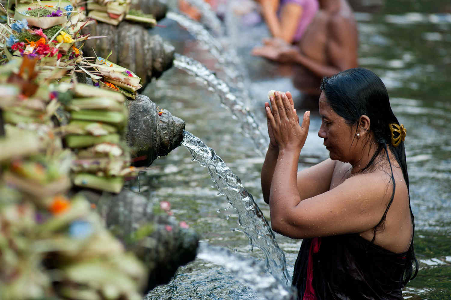 "Purification to ""Tirta Empul Temple"""